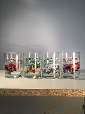 Vintage Hess Glasses Toy Truck Serie