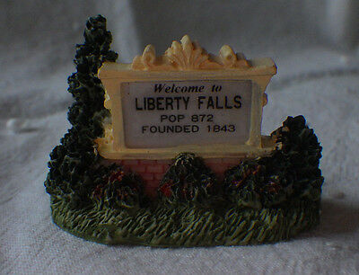 """Liberty Falls """"welcome To"""" Sign Christmas Western Village Figurine"""