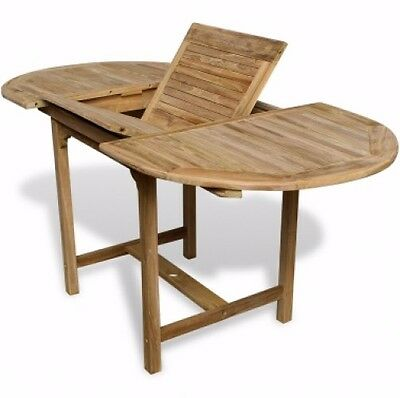 Large Outdoor Oval Table Teak Wood Garden Dining Patio Furniture Wooden Sturdy
