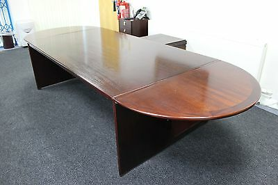 Executive Office Desk with Three Chairs