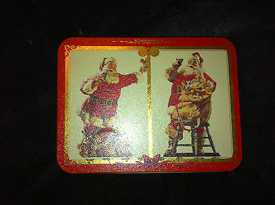 COCA COLA ~ Santa Claus 1994 Collectible Playing Cards w/tin container