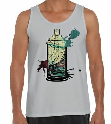 Graffiti Aerosol Spray Can Men's Vest Tank Top - Urban Design T-Shirt
