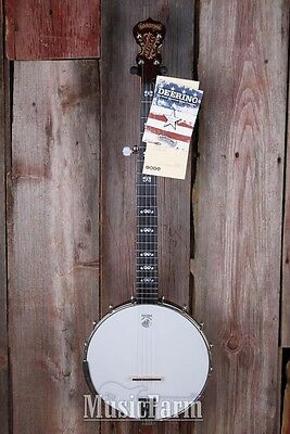 Deering Artisan Goodtime Openback 5 String Banjo with 3 Ply Maple Rim USA