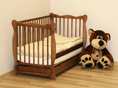 """HIT !!! BABY COT WITH DRAWER/JUNIOR BED """"JULIA"""" + choice to mattress 1 of 4"""