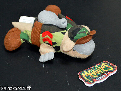 Meanies Armydillo Dan, Rare Series 1 1997, Idea Factory, Early Meanie