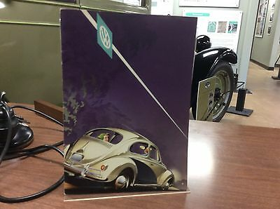 1958 1959 Volkswagen Beetle Brochure - RARE printed in Germany