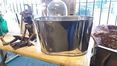 Large Champagne Bath Cooler Wine Cooler Bar Ice Bucket with Quotations Nickle
