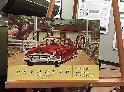 1951 Plymouth Brochure - Large booklet