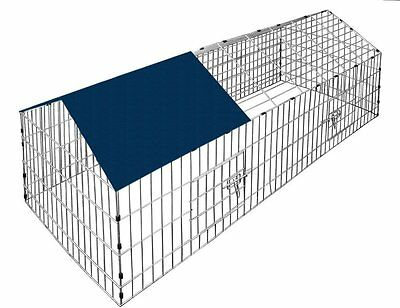 Outdoor Rabbit Run Cage Extra Large Guinea Pig Small Animal Enclosure Cover Kit