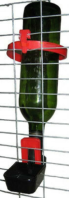 Solway Bottle Holder Cage trough,Cup Drinker Fits Almost Any Soda or Wine Bottle