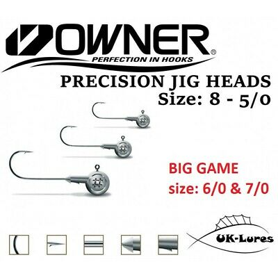 Jig Heads Owner Precision up to 5pcs Owner Hooks Predator Tackle Lure Fishing Ji