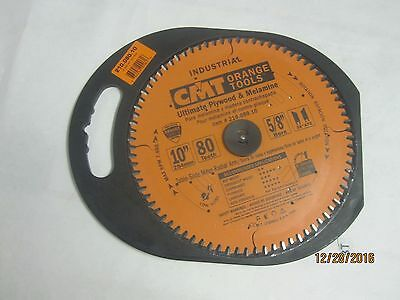 "New CMT 210.080.10 10"" x 80T Industrial Melamine Fine Cut-Off Table Saw Blade"