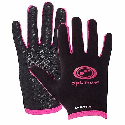 Optimum Multi-X Full Finger Glove - Black/Pink