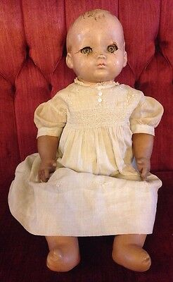 Vintage Effanbee Magic Skin Composition Head Old Doll