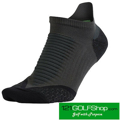 Nike Golf Elite Cushion No Show Tab Golf Running Socks Size UK 9-10.5 (3 Pack)