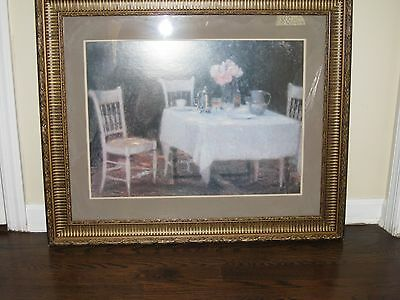 """LARGE PICTURE OF TABLE AND CHAIRS WITH FRAME 36"""" x 30"""""""