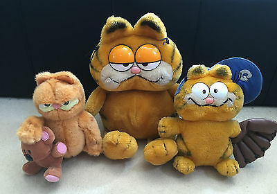 Garfield Plush Soft Toys Bundle- Vintage- Joblot- Baseball / The Movie + More!