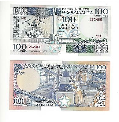 Somalia  100 Shillings,  1988 Date   2 Pcs In Lot  Nice Unc