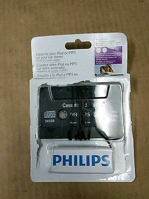Philips 150 series Cd/mp3/md-to-cassette car Adapter 3.5mm Plug