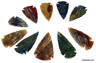 60 Pcs Lot Of Arrowheads Spearhead Bow Points Hunting Flint Stone Collection