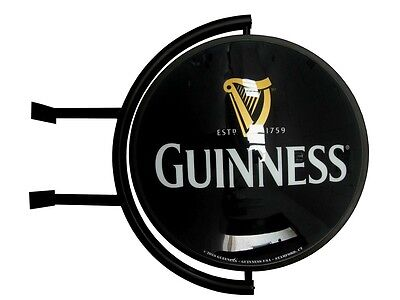 "Guinness 20"" Globe Rotating Pub Lighted Sign Distributor Authentic Item - NIB"