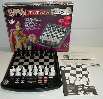 DISCOUNTED Excalibur Electronic IVAN THE TERRIBLE Computerized Chess Game NO SOU