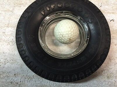 Vintage Firestone Tire advertising Ashtray