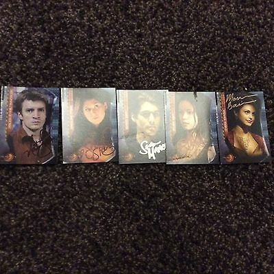 Firefly Serenity Signed Trading Cards Nathan Fillion Morena Baccarin Jewel Stait