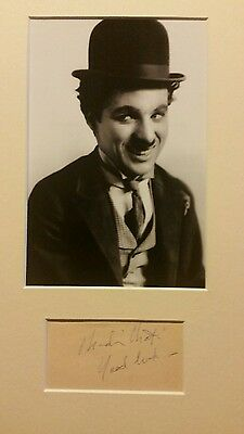 Charlie Chaplin signed page
