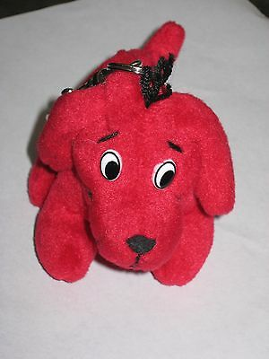 Clifford The Big Red Dog Plush Stuffed Keychain Fob 6""