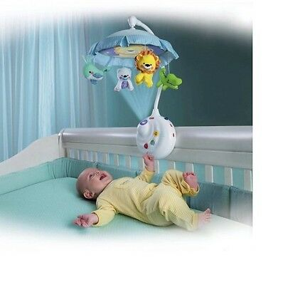 Baby Crib Projector Shooter Toy Soothing Light Music Infant Mobile Newborn Gift
