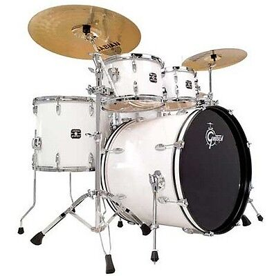 Gretsch GE-E8256S-WHT 5 Piece Energy Drum Shell Kit - No Hardware or Cymbals