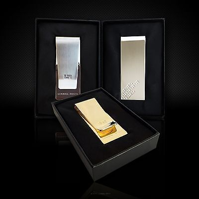 Gold, Silver or Classic Stainless Steel Money Clip in Gift Box - by LOUBAL-REICH
