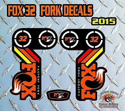 Fox 32 2015 FORK Stickers Decals Graphics Mountain Bike Down Hill MTB BLUE