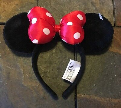 Disney Parks Classic Red Bow Minnie Mouse Ears Headband - NEW W/O TAG