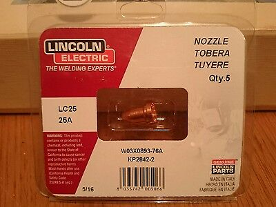 5 x Nozzles LP2842-2 Nozzlescompatible with Lincoln© Tomahawk© 375 LC25 Plasma