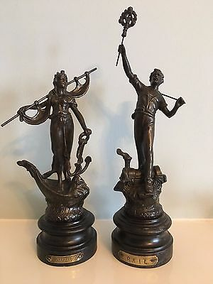 French Victorian Spelter Figures- pair