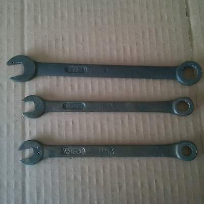 1 Lot of 3 Spark Proof Explosion Proof SAE Combination Wrenches Ampco Bronze