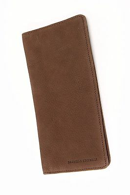 NWT $625 Brunello Cucinelli Leather Suede Multi-Compartmental Folded Logo Wallet