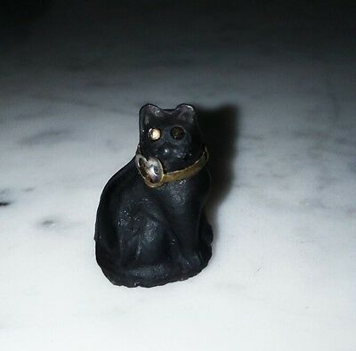 Rare Glass Cat - Circa 1920 - Charming Of Perfume Bottles Czechoslovacos
