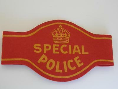 Vintage 1939 Royal Visit Special Police Armband worn by Officers Covering Parade