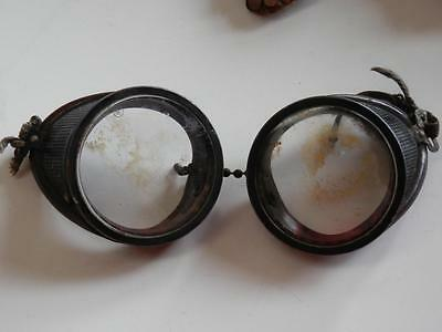 Vintage 1950s Coal Miners Goggles Safety Glasses Spectacles
