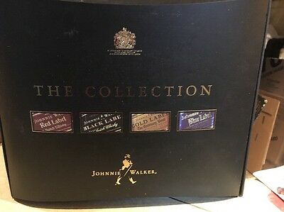 Johnnie Walker Collection Pack EMPTY Four 200ml Bottles