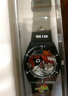True Vintage 90s SPACE JAM Armitron WR100 Tazmanian Devil Basketball Watch RARE