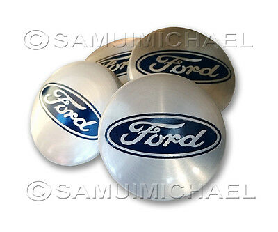 4 x SILVER FORD ALLOY WHEEL CENTRE CAPS 54MM - FOCUS/MONDEO/FIESTA/KA & OTHERS