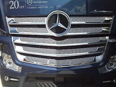 Mercedes Benz Actros MP4 stainless steel front grill