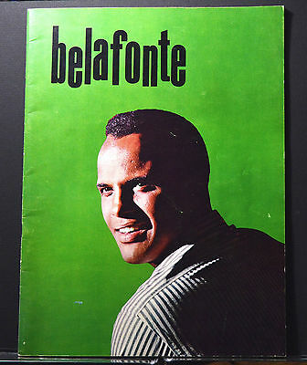 """Harry Belafonte early 1960 """"In Person"""" Concert with Mariam Makeba Program - VG"""
