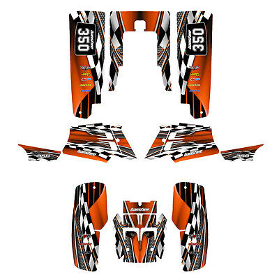 Yamaha Banshee Graphics Full Coverage Kit Free Customization #2500 Orange