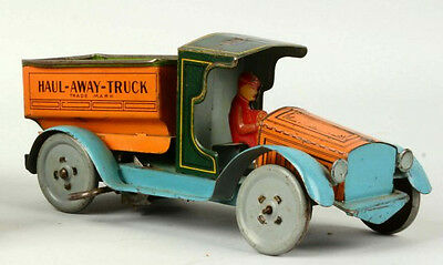 Strauss Tin Litho Wind Up Vehicle Haul-Away-Truck