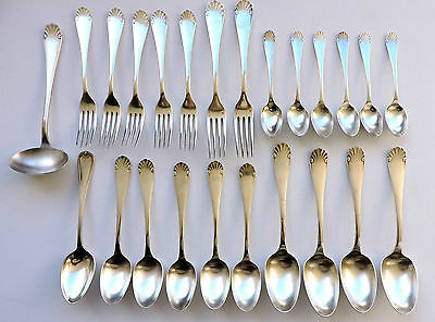 Christofle Silver Plate Cutlery Christofle Flatware Set of 25 Pieces